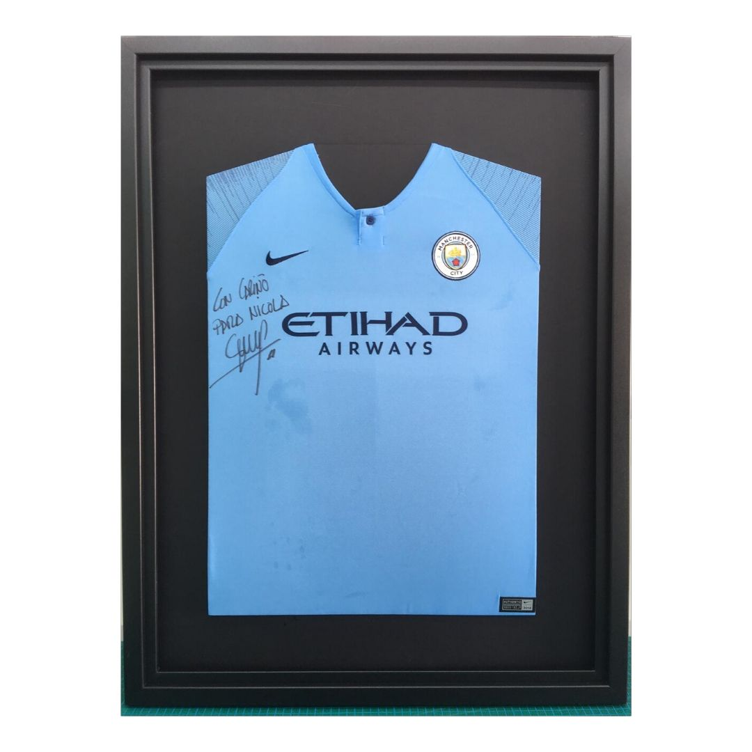 Man city signed shirt