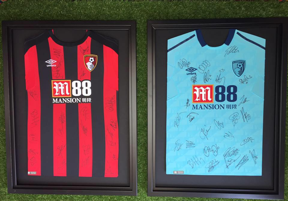 Three Simple Steps to get an Authentic Signed and Framed AFCB Shirt for under £75