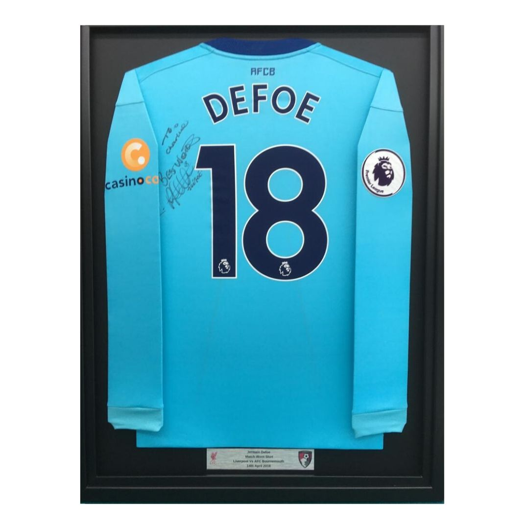 Defoe shirt framed