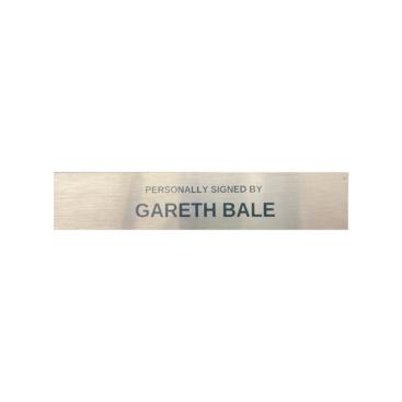 Gareth Bale silver plaque
