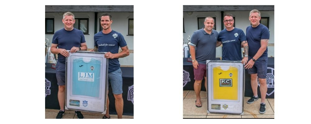 Football for Cancer | Happy Customers | Shirt Framing Service