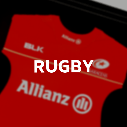 Rugby jerseys, rugby shirts, rugby boots we can frame the lot. Click here to view our range of memorabilia framing options