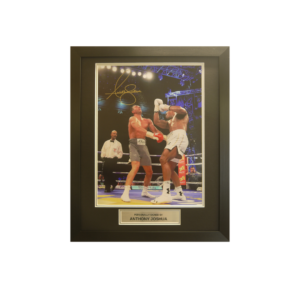 Anthony Joshua signed and framed photo with plaque