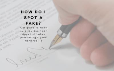 Signed Shirts – How Do I Spot A Fake?