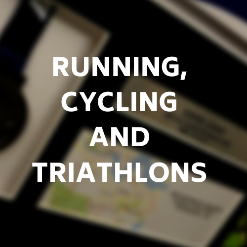 If running or cycling is your sport click this image to view our various framing options for your apparel - desktop link