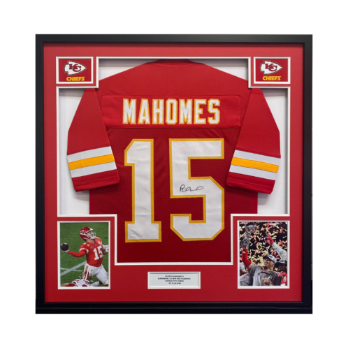 Mahomes NFL American Football Signed and Framed Shirt