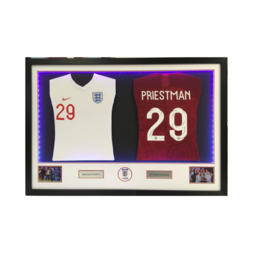 England womens football double framed shirts with LED